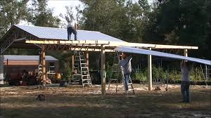 building a gambrel roof how to build a lean to on a barn youtube