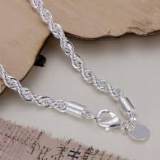 fine silver plated bracelet images Hot 925 men jewelry silver plated 4mm 20cm male bracelet fine jpg