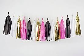 Homemade New Year Party Decorations by Amazon Com Black White Pink Gold Tassel Garland Banner