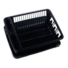 Dishes Rack Drainer United Solutions Sk0031 Two Piece Dish Rack And Drain Board Set In