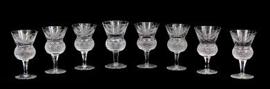 crystal wine glasses a set of eight edinburgh crystal wine glasses in