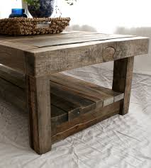Barn Wood Sofa Table by Furniture Barn Reclaimed Wood Coffee Table With Wicker Basket And