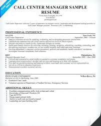 Call Centre Sample Resume Call Center Manager Resume Sample Resume Sample Call Centre