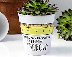 personalized flower pot gift personalised gift gift for plant