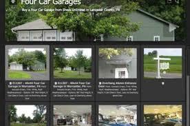 get free 2 3 and 4 car garage design ideas sheds unlimited