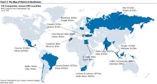 Map Of World Uk by Us Companies Vs Countries U0027 Stock Markets Business Insider