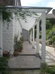 Garden Veranda Ideas Vine Walkway Along Side Of House Pinteres