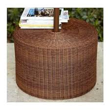 umbrella stand side table palmetto umbrella stand side table honey by potterybarn olioboard