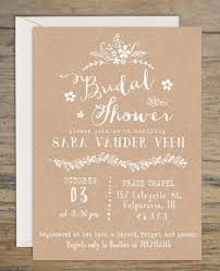 kraft bridal shower invitation bridal shower invitations wedding
