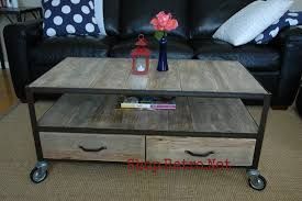 industrial coffee table with drawers vintage industrial inspired apartment size coffee table vintage
