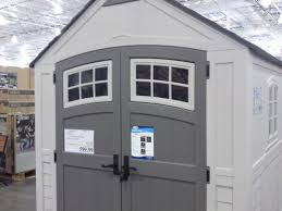 patio cool rubbermaid storage shed ideas with beige wall and grey