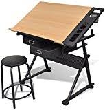 Home Hobby Table Alvin Craftmaster Ii Deluxe Art Drawing Hobby Table Amazon Co Uk