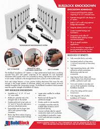 buildlock knockdown insulating concrete forms icfs system