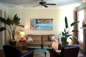 turquoise blue abstract art transitional living room teresa