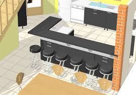 modele cuisine avec ilot bar wonderful modele cuisine avec ilot bar 2 premi232res