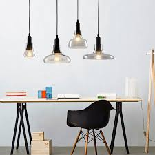 Glass Pendant Light Fitting Aliexpress Com Buy Restaurant Led Glass Pendant Light Modern