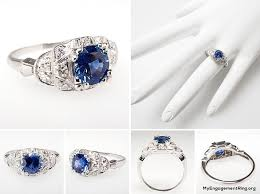 antique rings sapphire images Engagement wedding rings jpg