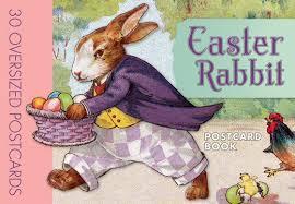 easter bunny book easter rabbit postcard book postcard books