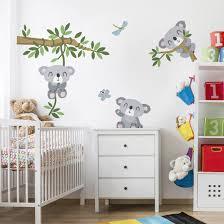 kinderzimmer garderobe wandtattoo kinderzimmer koala set