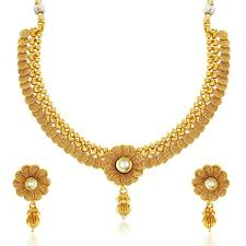 new gold set buy sukkhi eye catchy jalebi design gold plated necklace set for