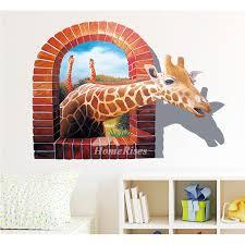 home decor giraffe wall decals giraffe sharks pvc self adhesive home decor 3d