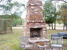 outdoor red brick fireplace the great combination for the