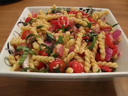 pasta salad with fresh and sun dried tomatoes appoggiatura