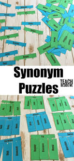vocabulary lesson synonym puzzles teach beside me