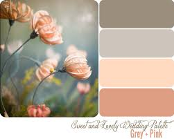wedding color palette grey pink sweet and lovely life