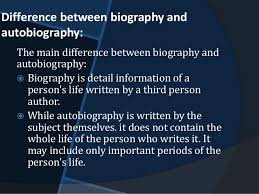 biography an autobiography difference biography and autobiography in social sciences
