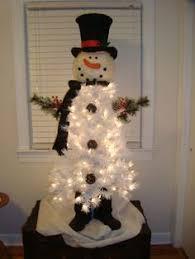 diy branco árvore de natal do boneco de neve ginnys