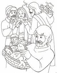jesus heals sick coloring coloring