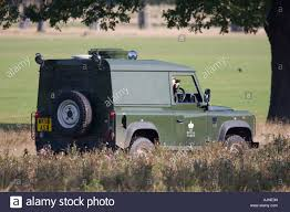 land rover britains authorities driving land rover car of the royal parks and taking