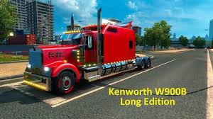 trucker to trucker kenworth kenworth w900b long edition fixed by h trucker mod euro truck
