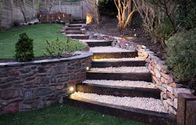garten treppe gartentreppen bauen der gestaltung ein gefühl dynamik verleihen