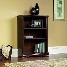 Sauder Bookcase 5 Shelf by Amazon Com Sauder Carolina Estate 3 Shelf Bookcase Select Cherry