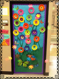 door decorations 3 d flower door decoration idea summer flower theme