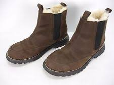 s ugg australia nubuck boots ugg australia genuine shearling lined pull on mid boots