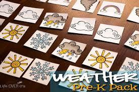 free printable weather pre k pack