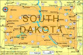 south dakota map with cities brandon south dakota map