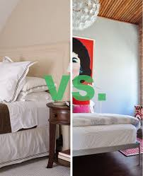 No Bed Frame Design Duel Bedskirt Or No Bedskirt Apartment Therapy
