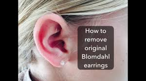 blomdahl earrings how to remove the original blomdahl earring