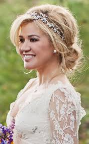wedding hair clarkson s bridal hair all the details e news