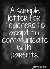 sample monthly letter for teachers to send to parents free