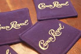 crown royal gift set crown royal coasters set of 4 made from genuine crown royal