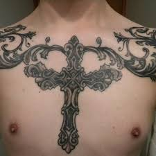 cross 3 cross chest on tattoochief com