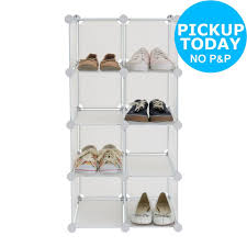 Argos Bathroom Accessories by Home 6 Tier White Shoe Rack From The Official Argos Shop On Ebay