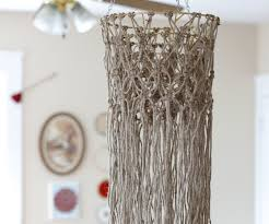 diy macrame hanging chandelier 5 steps with pictures
