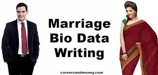 Matrimonial Resume Sample by Marriage Bio Data Writing Careersandmoney Com