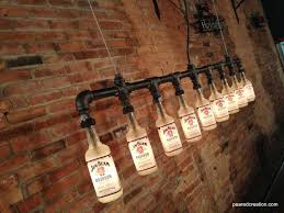 buy a hand made industrial style chandelier bottle light made